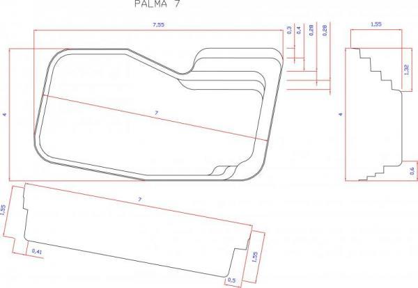 piscine coque palma 1 picardie piscine. Black Bedroom Furniture Sets. Home Design Ideas