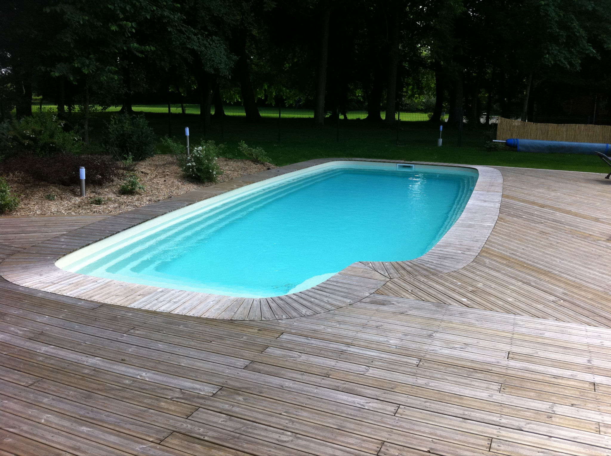 Piscine coque indiana 3 picardie piscine for Installation piscine coque